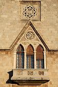 decorative window medieval building
