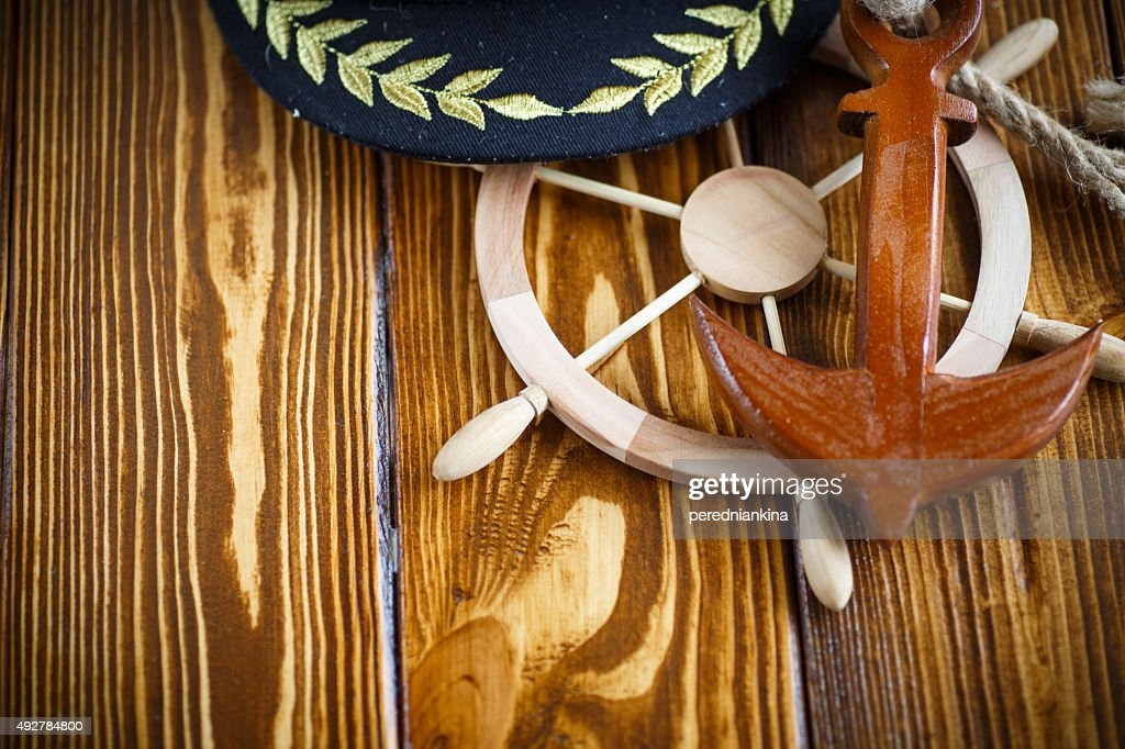 9545f4f4273 Decorative wooden steering wheel   Stock Photo