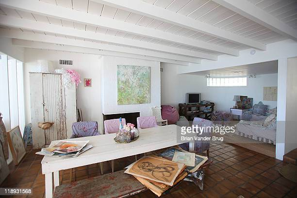 Decorator and creator of the Shabby Chic brand Rachel Ashwell's home photographed for Los Angeles Times on December 21 2010 in Malibu California...