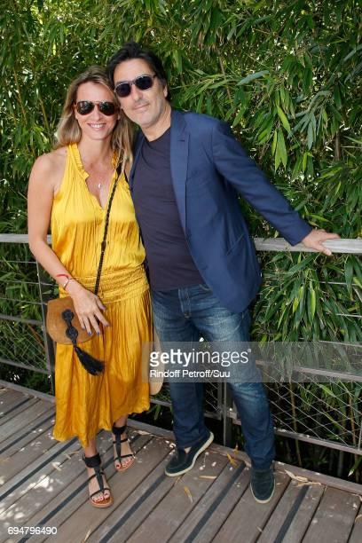 Decorator Sarah lavoine and actor Yvan Attal attend the Men Final of the 2017 French Tennis Open Day Fithteen at Roland Garros on June 11 2017 in...