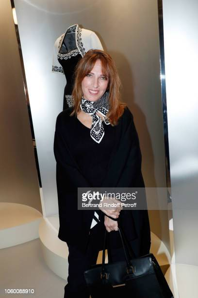 Decorator Stephanie Jarre attends Alaia Foundation Library Opening at Galery Azzedine Alaia on November 10 2018 in Paris France