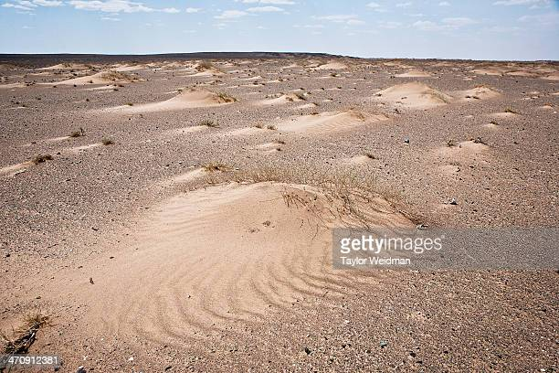 Decreased precipitation and stronger winds a product of climate change has led to the erosion of fertile topsoil and the expansion of the Gobi Desert...