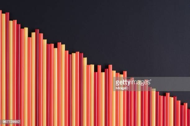 decreasing red bar graph - decline stock pictures, royalty-free photos & images