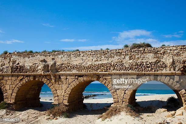 Decrepit anchor aqueduct with arches