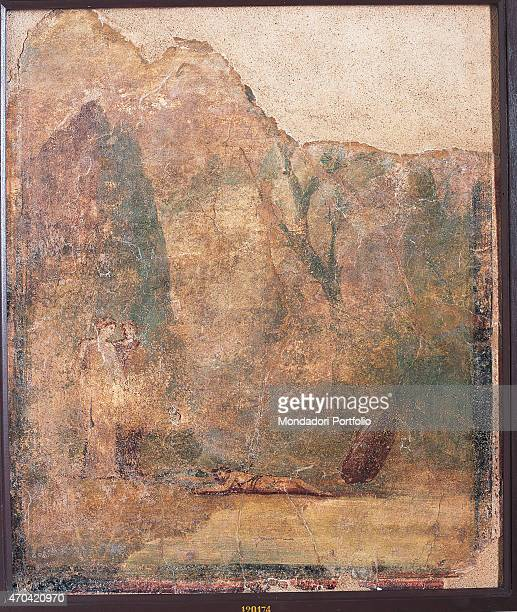 Dedalus and Icarus by unknown artist 2040 1st Century AD ripped fresco 95 x 81 cm Italy Campania Naples National Archaeological Museum Room LXXIII...