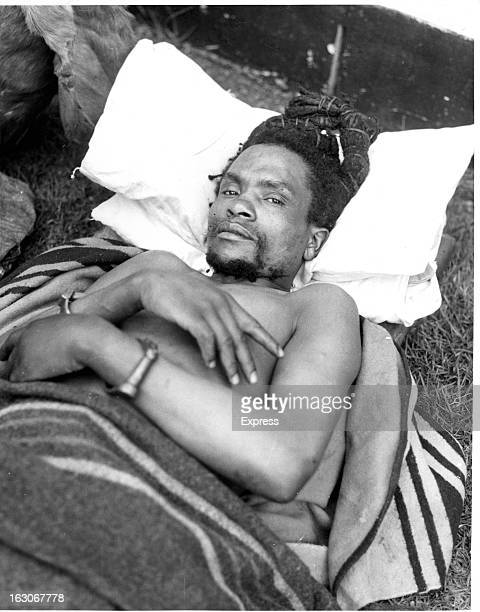 Dedan Kimathi Waciuri handcuffed in a hospital bed led an armed military struggle known as the Mau Mau uprising against the British colonial...