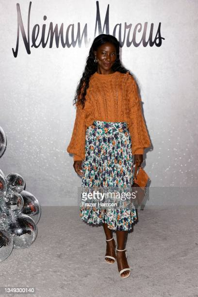 """Deddeh Howard attends the Neiman Marcus Celebrates The Launch Of Their """"Celebrate Big, Love Even Bigger"""" Holiday Campaign With 2021 Fantasy Gift..."""