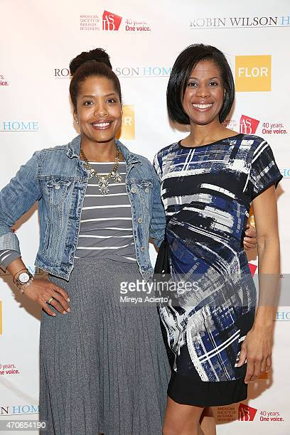 Dede Brown and interior designer Robin Wilson attend the book signing of Clean Design at FLOR Design Store on April 21 2015 in New York City