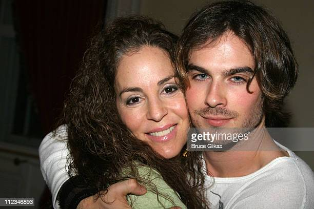 DeDe Harris producer and Ian Somerhalder during OffBroadway 'Dog Sees God Confessions of a Teenage Blockhead' Rehearsals November 15 2005 at Century...