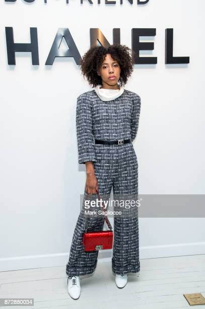 Dede Lovelace wearing CHANEL attends the CHANEL celebration of the launch of The Coco Club at The Wing Soho on November 10 2017 in New York City