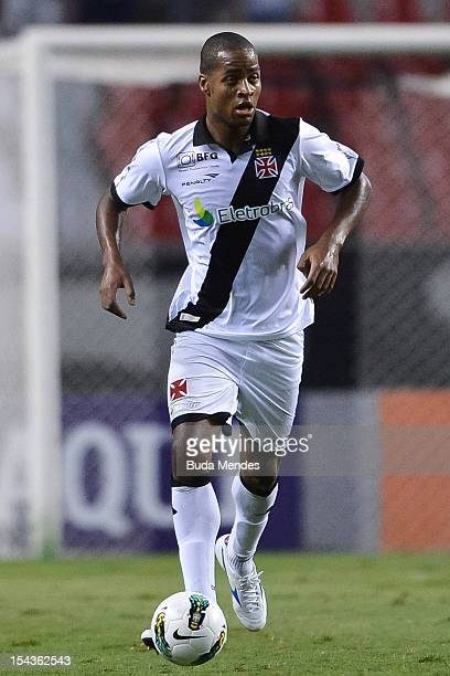 Dede of Vasco in action during a match between Botafogo and Vasco as part of the Brazilian Championship Serie A at Engenhao stadium on October 18...