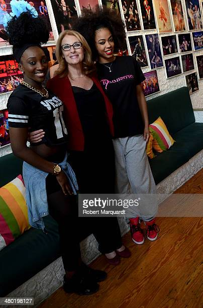 Dedee B Coco Comin and Kimmie Gee pose for a portrait at the 'Coco Comin Escola de Dansa i Comedia Musical' on March 23 2014 in Barcelona Spain