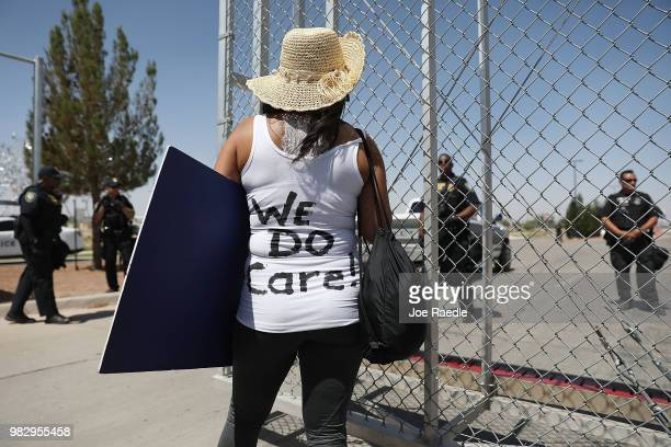 Dedee Garcia Blase wears a vest that reads We Do Care a reference to a jacket first lady Melania Trump wore in a surprise visit to the border last...