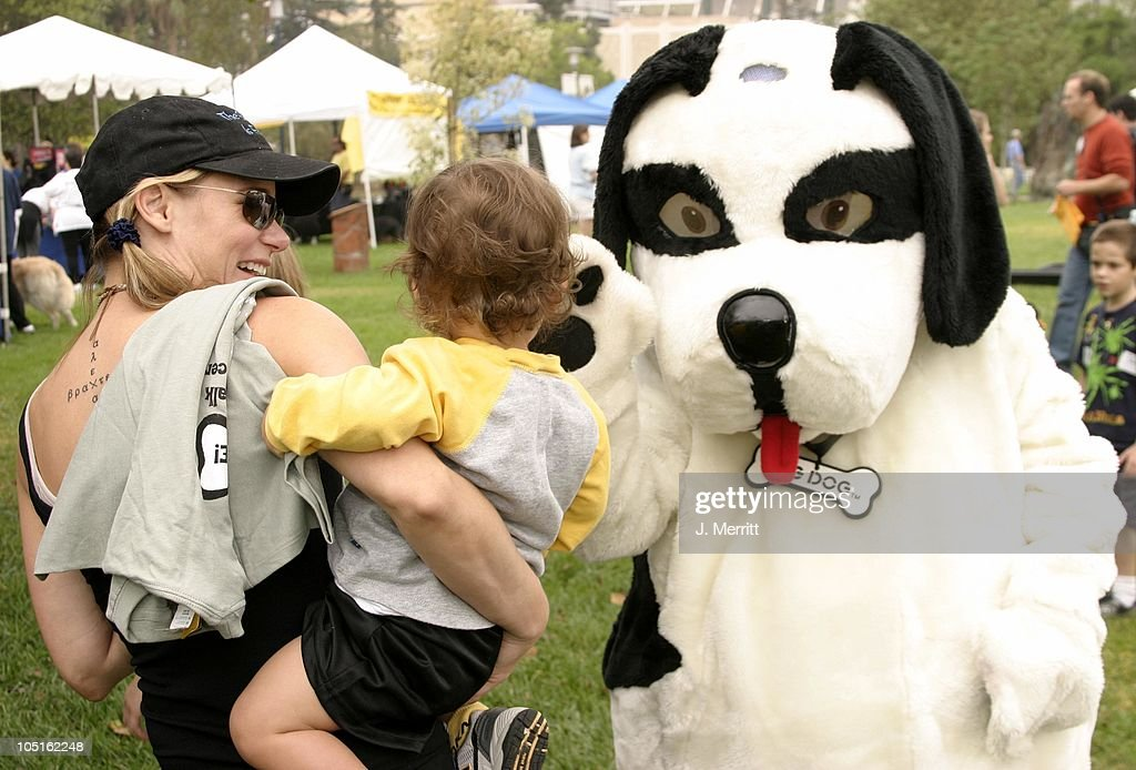Dedee Pfeiffer and son Braxten during Third Annual 4 Paws For A Cure Cancer Benefit at The Page Museum in Los Angeles, California, United States.