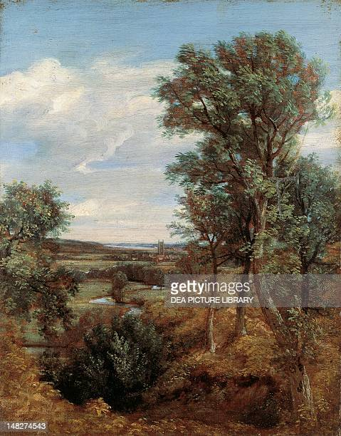 Dedham Vale by John Constable , oil on canvas, 43.5x34.4 cm. ; London, Victoria And Albert Museum.