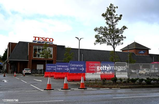 """Dedicated parking bays for Tesco customers who ordered their shopping via the company's online """"Click and collect"""" service, opting to collect their..."""