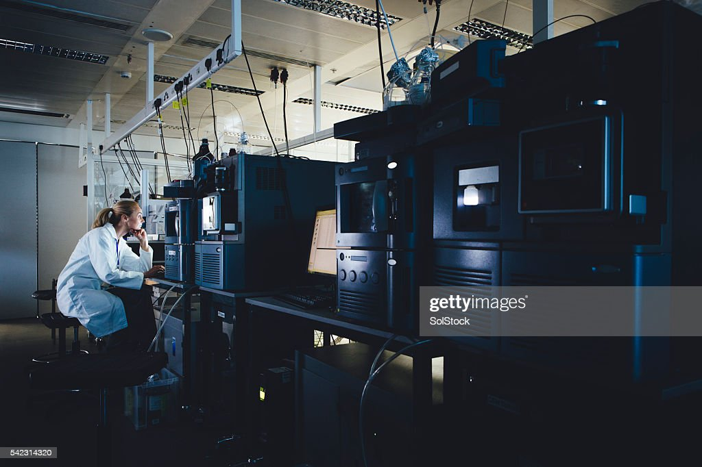 Dedicated to Research : Stock Photo
