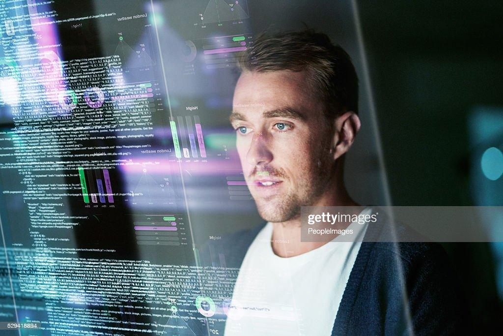 Dedicado de desarrollo de software : Foto de stock