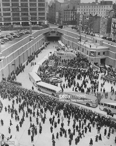 Dedication ceremonies at the Lincoln Tunnel