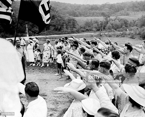 Dedication ceremonies at the Nordland Nazi Camp in New Jersey