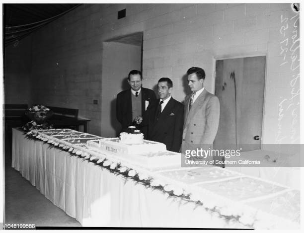 Dedication of United Auto Workers, Ford Division, Local 406, Wilmington, 27 January 1952. Lew Michner ;K.F Catton ;Don Goodman .Wilmington; Los...