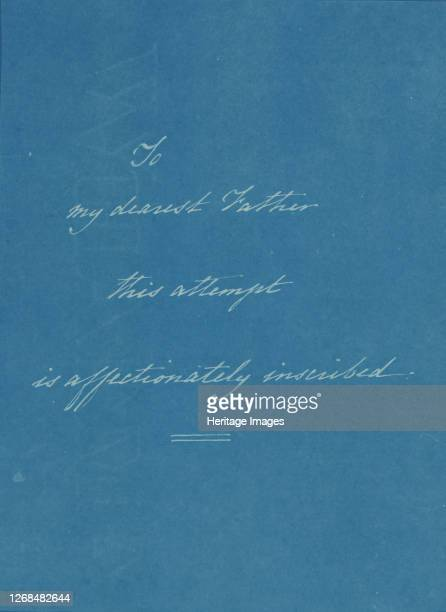 [Dedication Page 1] from Photographs of British Algae Cyanotype Impressions circa 1853 A dedication to Anna Atkins' father John George Children a...