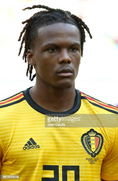 Dedryck Boyata of Belgium during the 2018 FIFA World Cup Russia group G match between Belgium and Tunisia at Spartak Stadium on June 23 2018 in...