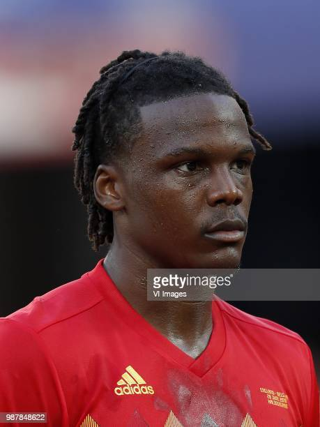 Dedryck Boyata of Belgium during the 2018 FIFA World Cup Russia group G match between England and Belgium at the Kalingrad stadium on June 28 2018 in...