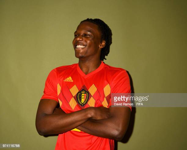 Dedryck Boyata of Belgium poses during the official FIFA World Cup 2018 portrait session at the Moscow Country Club on June 14 2018 in Moscow Russia