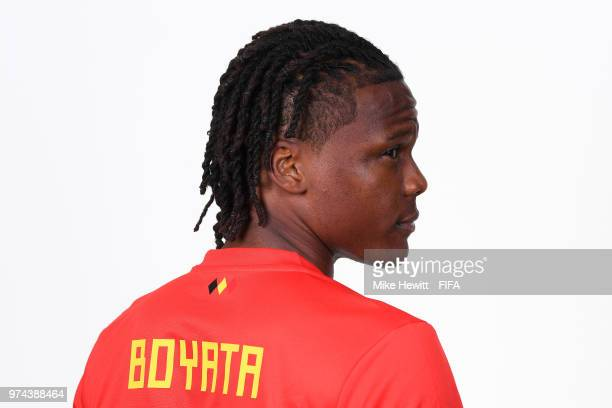Dedryck Boyata of Belgium poses for a portrait during the official FIFA World Cup 2018 portrait session at the Moscow Country Club on June 14 2018 in...