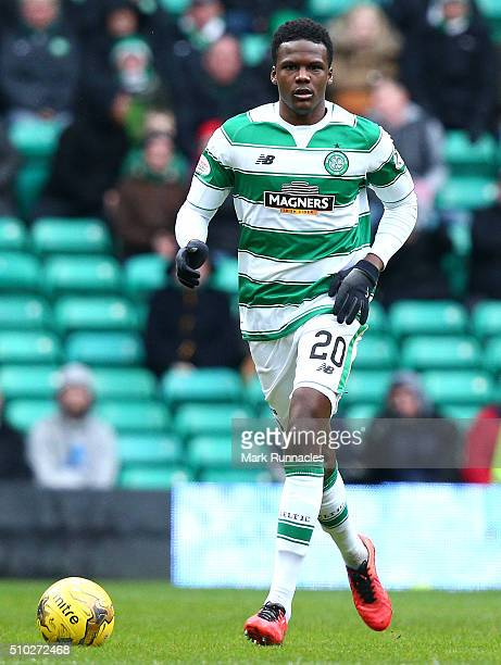 Dedryck Boyata of Celtic in action during the Ladbrokes Scottish Premiership match between Celtic and Ross County at Celtic Park Stadium on February...