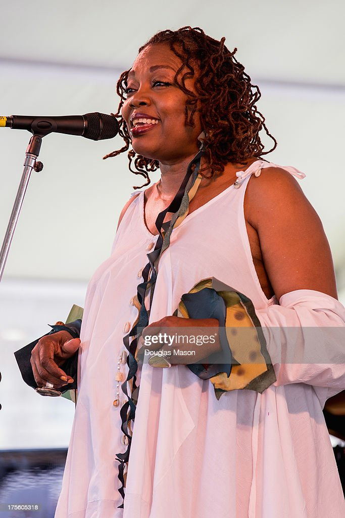 Dee Alexander performs during the Newport Jazz Festival 2013 at Fort Adams State Park on August 4, 2013 in Newport, Rhode Island.