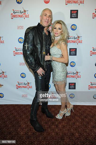 Dee and Suzette Snider attend Dee Snider's Rock 'N' Roll Christmas Tale at Winter Garden Theatre on December 9 2015 in Toronto Canada
