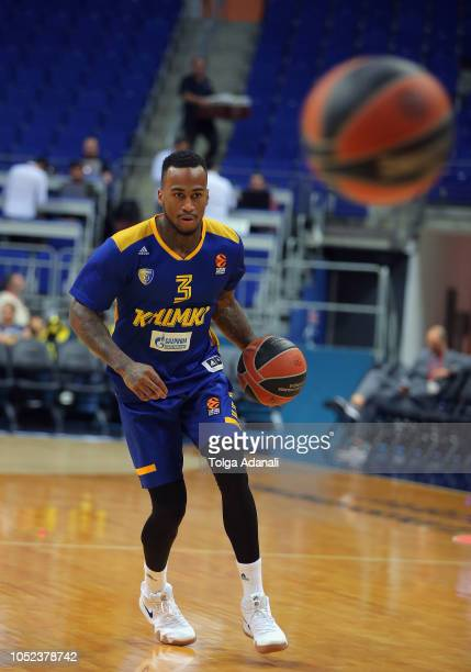 Dee Bost #3 of Khimki Moscow in action during the 2018/2019 Turkish Airlines EuroLeague Regular Season Round 2 game between Fenerbahce Istanbul v...