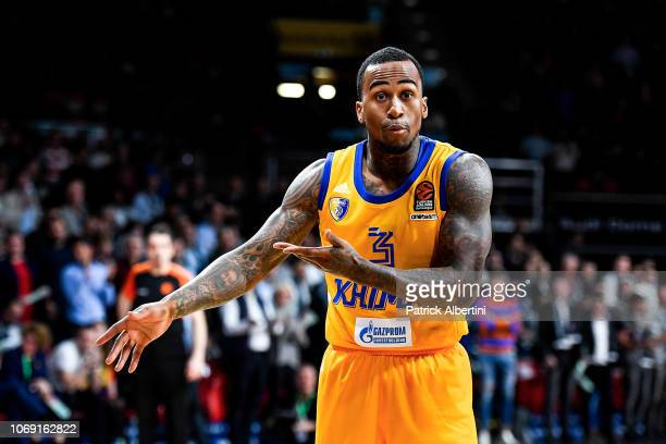 Dee Bost #3 of Khimki Moscow Region in action during the 2018/2019 Turkish Airlines EuroLeague Regular Season Round 11 game between FC Bayern Munich...