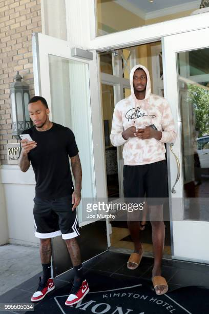 Dee Bost and Jaren Jackson Jr #13 of the Memphis Grizzlies get lunch on July 4 2018 in Salt Lake City Utah NOTE TO USER User expressly acknowledges...