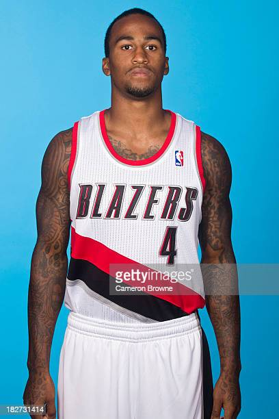 Dee Bost of the Portland Trail Blazers poses for a picture during media day on September 30 2013 at the Rose Garden Arena in Portland Oregon NOTE TO...
