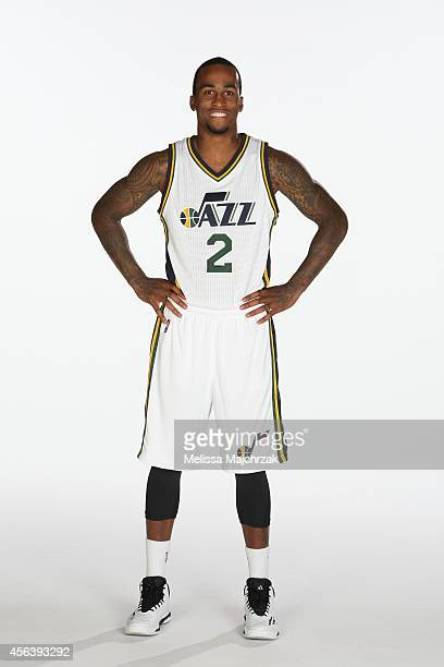Dee Bost of the Utah Jazz poses for a photo during the 2014 NBA Jazz Media Day at Zions Basketball Center on September 29 2014 in Salt Lake City Utah...