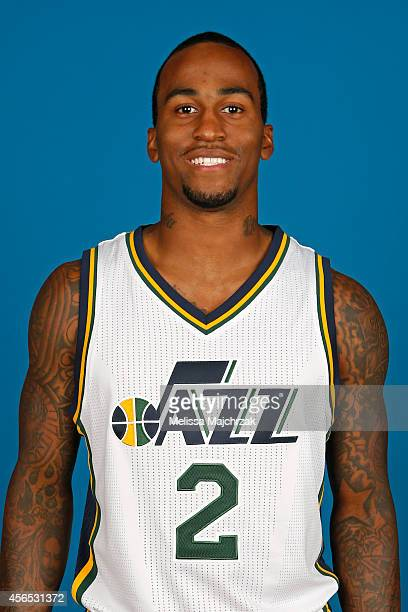 Dee Bost of the Utah Jazz poses for a portrait during the 2014 NBA Jazz Media Day at Zions Basketball Center on September 29 2014 in Salt Lake City...
