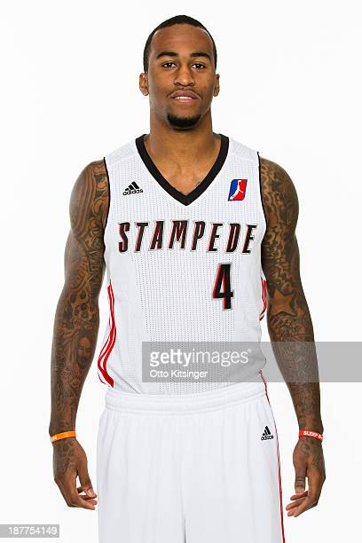Dee Bost poses for a photograph on the Idaho Stampede's Media Day on November 11 2013 at Peppershock Media in Nampa Idaho NOTE TO USER User expressly...