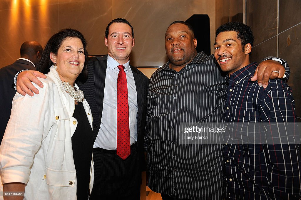 Dee Brandt, Kyle Brandt, Tony Paige and Tony Paige, Jr. are seen at the David Yurman Meteorite Launch With Chris Baker on October 15, 2013 in Mclean, Virginia.