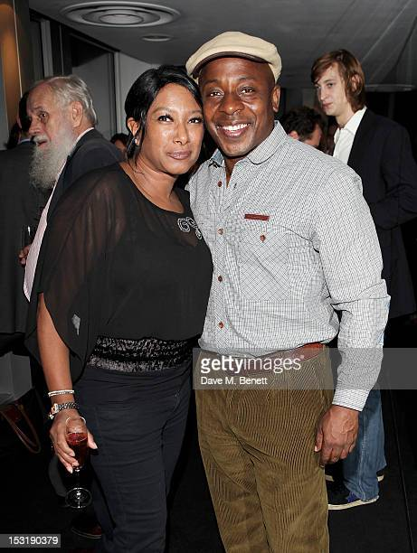 Dee C Lee and actor Vas Blackwood attend the Breast Cancer Campaign 'Action' Month launch party at Vertigo 42 on October 1 2012 in London England