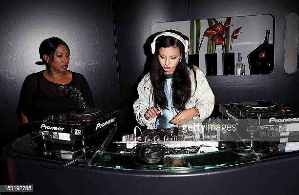 Dee C Lee and Leah Weller attend the Breast Cancer Campaign 'Action' Month launch party at Vertigo 42 on October 1 2012 in London England