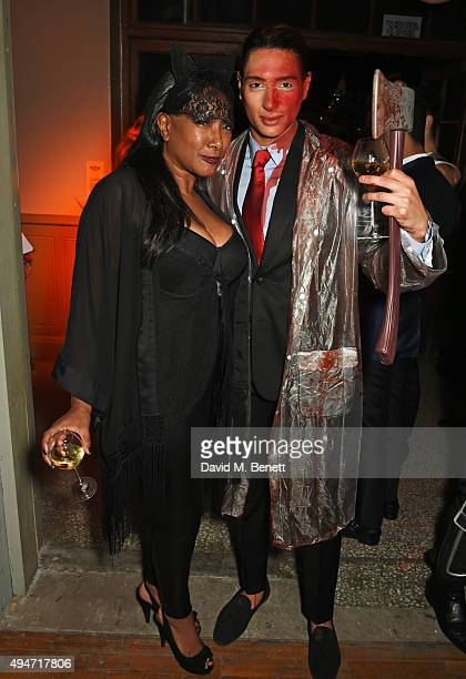 Dee C Lee and Natt Weller attend the Veuve Clicquot Widow Series A Beautiful Darkness curated by Nick Knight and SHOWstudio on October 28 2015 in...