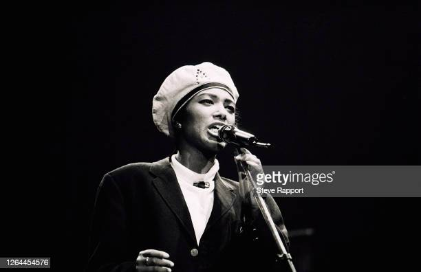 Dee C Lee of The Style Council Wembley Arena London 12/7/85