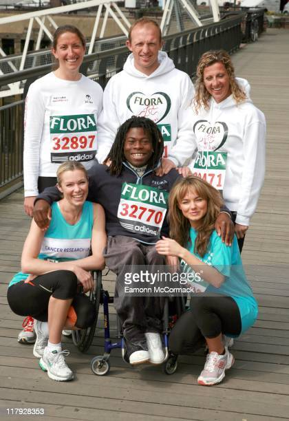 Dee Caffari Matt Dawson Sally Gunnell Nell McAndrew Ade Adepitan and Kara Tointon during the 2007 Flora London Marathon Press Conference at the Tower...
