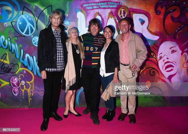 Dee Christopholous Jacqueline Whelan James Rado Linzi Beuselinck and Paul Nicholas attend the 50th Anniversary of 'Hair The Musical' gala night at...