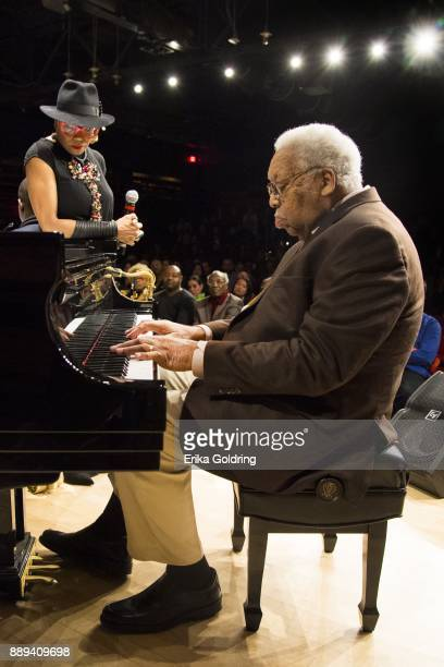 Dee Dee Bridgewater and Ellis Marsalis perform at the New Orleans Jazz Market on December 9 2017 in New Orleans Louisiana