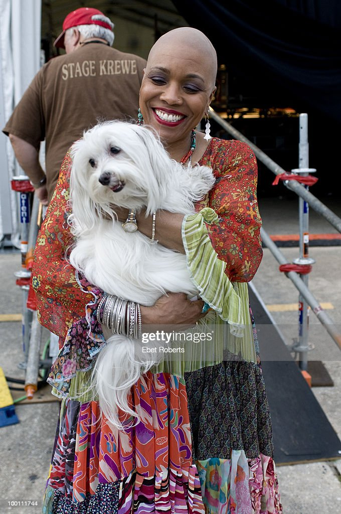 Dee Dee Bridgewater backstage at the New Orleans Jazz & Heritage Festival on April 29, 2010 in New Orleans, Louisiana.