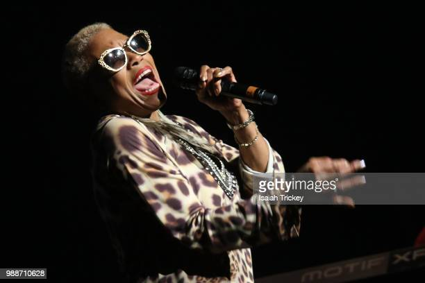 Dee Dee Bridgewater perfoms at Maisonneuve Theater, Place des Artson during the 2018 Montreal International Jazz Festival June 30, 2018 in Montreal,...
